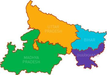 Major Hindi speaking states of North India